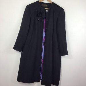 Donna Ricco Black Dress Coat 14WP